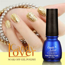 Candy Lover Newest UV Gel Nail Polish Glitter Color Soak Off Decor Hot Gift 8ml