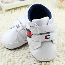 Toddler Baby Boy White Crib Shoes Casual Sneakers Size 0-6 6-12 12-18Month