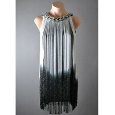 Ombre Fringe 20s Flapper Metallic Great Gatsby Jazz Theme Party Dress One Size