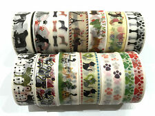 1PC Japanese Washi Tape Craft Sticker, 14 DESIGNS Dog & Cats Animal Puppy Kitten
