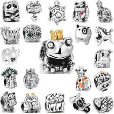Fashion Brand Animals Silver Charm Bead Fit 3mm European 925 Sterling Bracelet