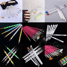 23 Styles Professional Dotting Marbleizing Painting Tools Nail Art Pen Brushes