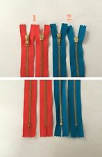 """16"""" 17"""" Closed End Metal Zippers Red White Blue Colors V5"""
