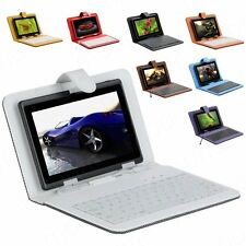 """New PU Leather Stand Micro USB Keyboard Case Cover For 7"""" inch Tablet PC+Stylus"""