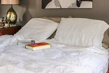 100% Pure Flax Linen bedroom sheet set. Organic and natural. European made.