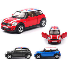 1:30 BMW MINI COOPER Union Jack Roof Pullback Alloy Diecast Model Toy Car Gift