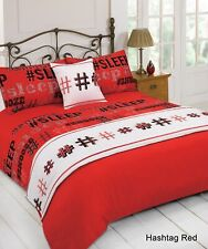 5PC Bed in a Bag Bedding Duvet Cover Quilt Set Hashtag Double & King All Sizes