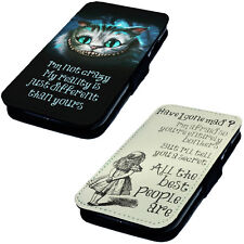 We're All Mad Here 2 - Printed Faux Leather Flip Phone Cover Case Alice Inspired