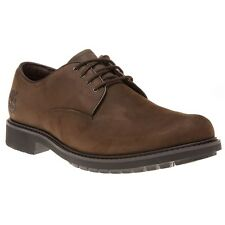 New Mens Timberland Brown Stormbuck Plain Toe Oxford Leather Shoes Lace Up