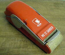 VINTAGE BEHR MANNING Red No. 12 Sander Bear Brand w/ partial roll of sandpaper