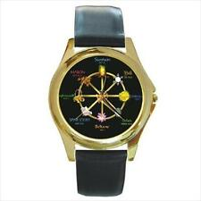 WICCAN PAGAN CALENDAR GOLD-TONE WATCH & 5 MORE STLS SILVER, SPORT, CHARM, ETC