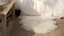 RENS 100% Genuine Sheepskin Real Rug soft warm cozy could be draped over a chair