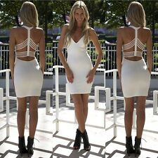 NEW Sexy Women Backless Sleeveless Clubwear Evening Party Cocktail Bodycon Dress