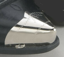Western Engraved Pointed Silver Toe Tips for Cowboy Boots