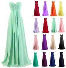 Long Chiffon Evening Formal Party Ball Gown Prom Wedding Bridesmaid Dress 6-20