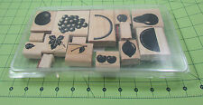 Stampin Up Definitely Decorative Fabulous Fruits Stamp Set 15 Grapes Cherry Pear
