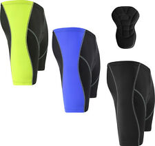 Mens Cycling Shorts Cycle Bike Anti-Bac With CoolMax Padding - S-M-L-XL