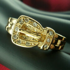 r241-Size 7 and  8 18K Gold Filled Ring Sapphire Engagement Jewelry