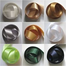 "Double Satin 1"" - 25mm Ribbon Various Colours 5Mtrs (27 Colours)"