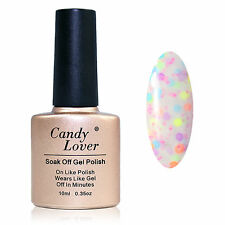 Candy Lover UV Gel Nail Polish Soak Off Candy cheese Color Varnish Hot Sale 10ml