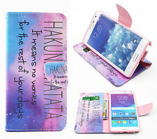 For Apple Samsung Nokia LG Sony Phones Flip Wallet Leather Stand Card Case Cover