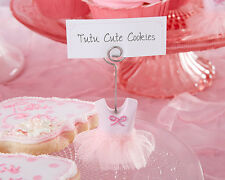 Pink Ballet Tutu Photo Place Card Holder Baby Shower Birthday Girl Favor