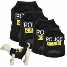 Dog Cat Vest Police Puppy T-Shirt Coat Pet Clothes Summer Apparel Costumes GT