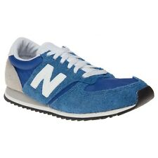 New Womens New Balance Blue 420 Suede Trainers Retro Lace Up