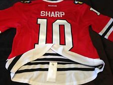 CHICAGO BLACKHAWKS PATRICK SHARP 10 AUTHENTIC LICENSED RED JERSEY REEBOK  54