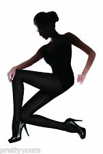 New Womens Girls Opaque Luxury Matt 3D Microfibre Warm Tights Hosiery S M L XL