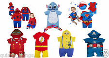 BABY Boy Supereroe Fumetti Romper / Party Costume / Costume / Play OUTFIT. NUOVO!