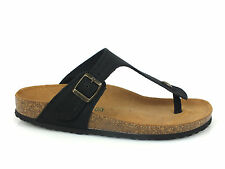 BIONATURA Finger flip flop slippers LEATHER BLACK Made in Italy collection 2015