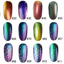 1PCS Chameleon Color Nail Gel Polish Acrylic Nail Art Varnish Brand New Tip 10ml