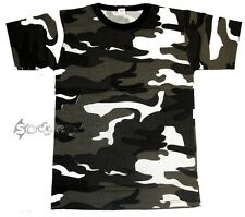 Mens Camouflage Army Military Training Cotton T Shirt Short Sleeve Top S-5XL