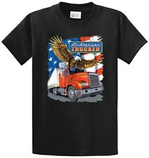 American Trucker Printed T Shirt Cotton Men's Big and Tall Sizes and Regular