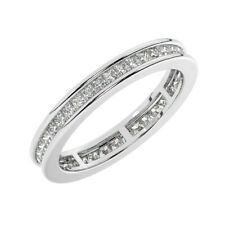 0.50carat Princess Cut Diamonds Full Eternity Wedding Ring, Gold & Platinum
