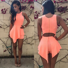 Cheap Hot Sexy Womens Sleeveless Bodycon Party Evening Cocktail Short Mini Dress