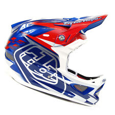 Troy Lee Designs D3 Team Blue/White Composite Mountain Bike Helmet NEW!