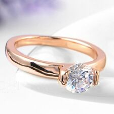 ROXI Rose Gold Plated Austrian Crystal Engagement Wedding Ring Size 5 6 7 8 9