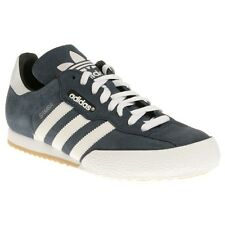 New Mens adidas Blue Samba Suede Trainers Retro Lace Up