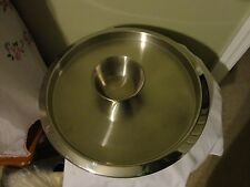 2 Pcs Stainless Steel Chip & Dip Dish / Round Tray Platter & Bowl Made in India