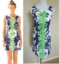 NEW LILLY PULITZER DRESS Delia Shift Sleeveless Dress Bright Navy 002468 $198