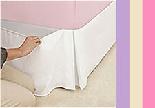 BOX PLEAT BED VALANCE - SINGLE - DOUBLE - KING - 4 COLOURS