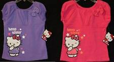 NWT Girls HELLO KITTY Glitter TOP Shirt SANRIO Purple Pink Turquoise Size 4 5 6
