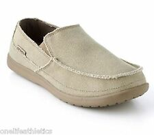 New CROCS Men's Avast Boat Shoes Canvas Khaki 11716-261   khaki