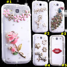 Cute Shine Bling Transparent Clear Crystal Diamond Hard Back Case Cover Skin #1