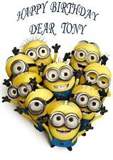 Personalised Birthday Card - Despicable Me - MINION - MINIONS - Any Name & Age