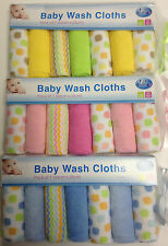Pack Of 7 Baby Washable Clothes Towel Child Kids Toddlers New Born Purp Towels