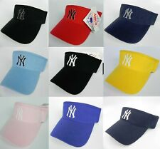 NEW YORK YANKEES MLB ADJUSTABLE VISOR CAP HAT BY ANNCO NWT MANY COLORS TO CHOOSE