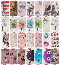 cartoon Leather slot wallet pouch flip stand case skin cover For NOKIA HUAWEI d
